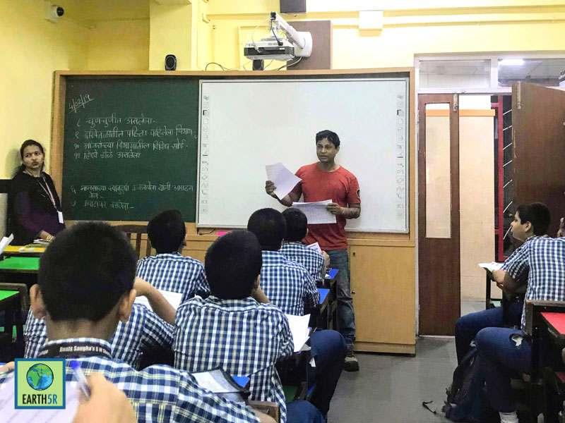 recycling workshop Mumbai India Environmental NGO Earth5R CSR
