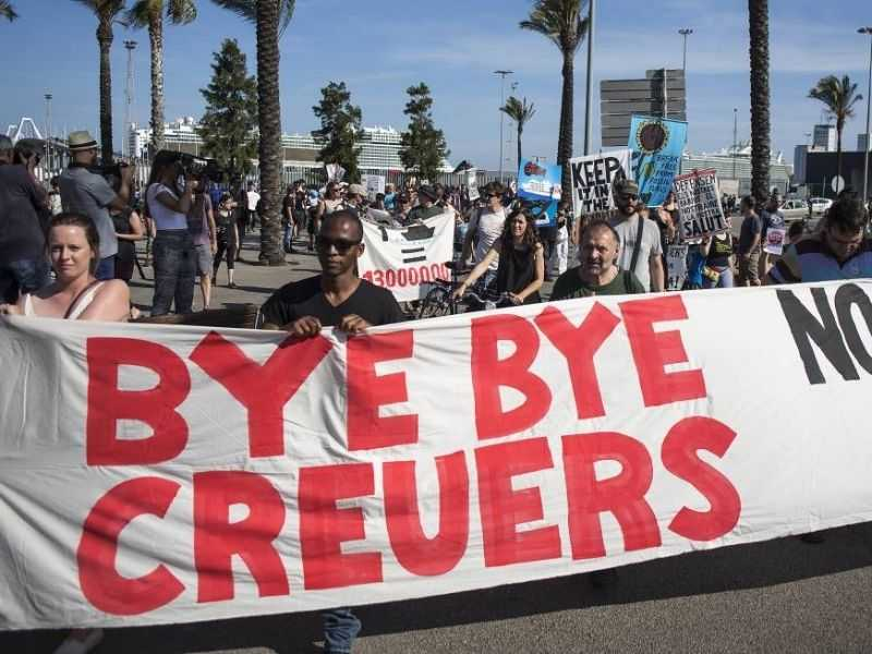 Barcelona Circular Economy Cruise Ship Protest Mumbai India Environmental NGO Earth5R