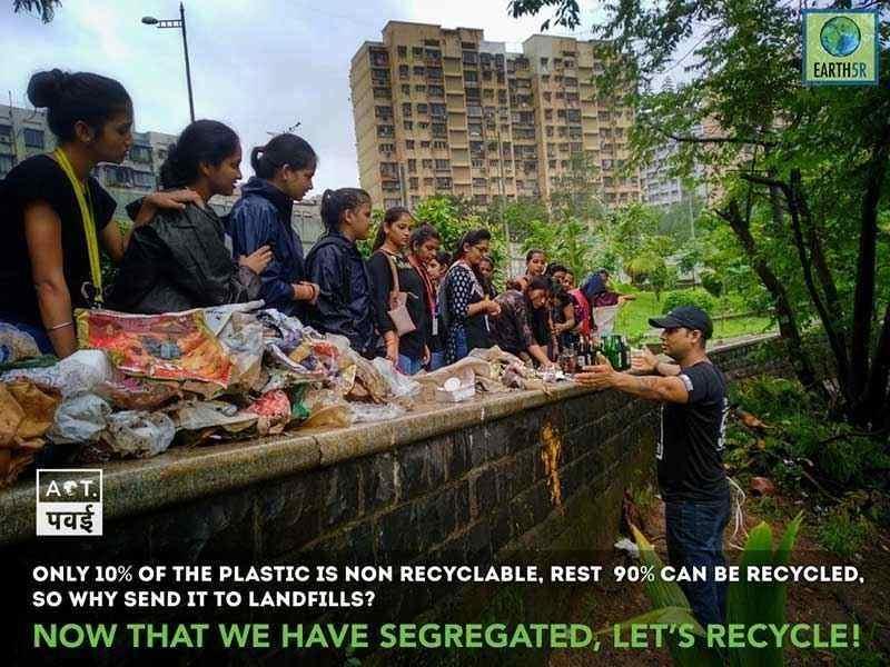 Mumbai-India-Environmental-NGO-Earth5r-Circular-Economy-Clean-up-Powai-Plastic-Recycling