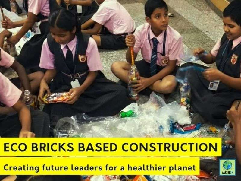 Mumbai-India-Environmental-NGO-Earth5r-ACT-Project-Swiss-School-circular-economy-eco-bricks-sustainable