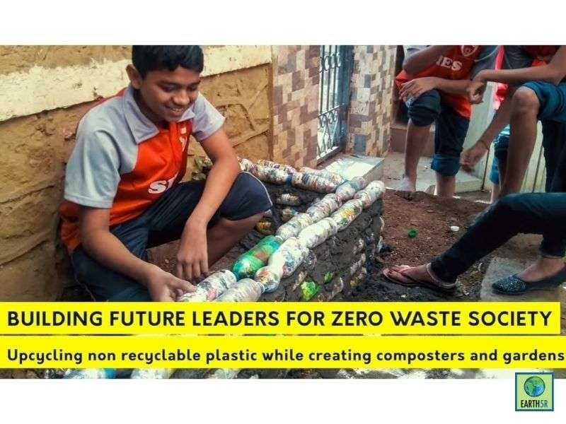 Mumbai-India-Environmental-NGO-Earth5r-ACT-Project-Swiss-School-circular-economy-sustainable-building-eco-bricks-plastic