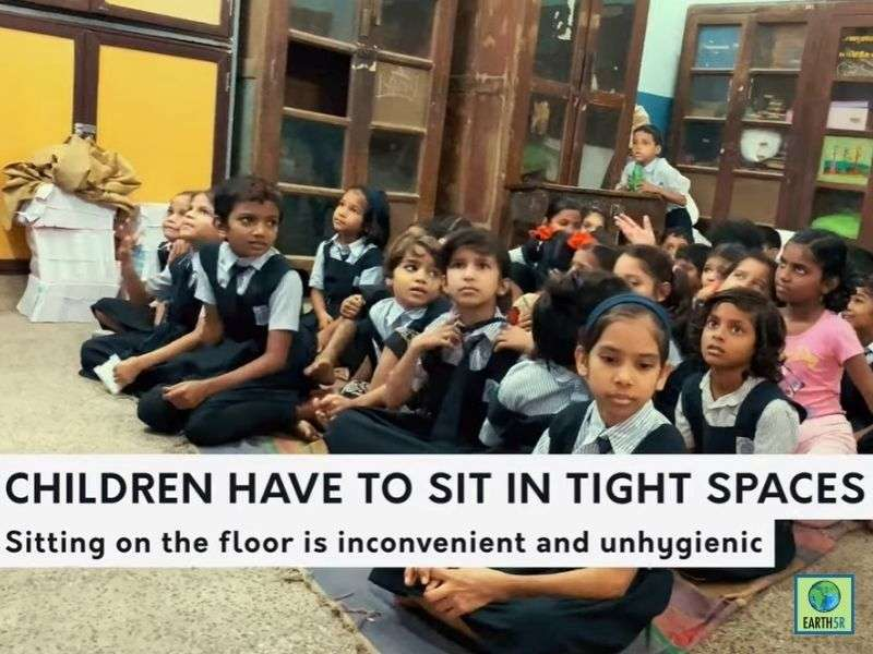 Mumbai-India-Environmental-NGO-Earth5r-ACT-Project-Swiss-School-class-bench
