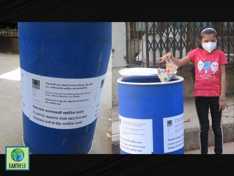 Mumbai-India-Environmental-NGO-Earth5r-Circular-Economy-blue bin